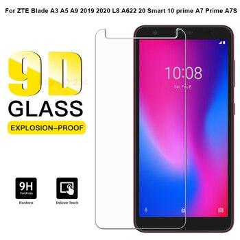 Перейти на Алиэкспресс и купить Защитная пленка для экрана ZTE Blade A7 2020 из закаленного стекла для ZTE Blade L8 A622 A3 A5 A7 S 2019 2020 20 Smart 10 A7 Prime