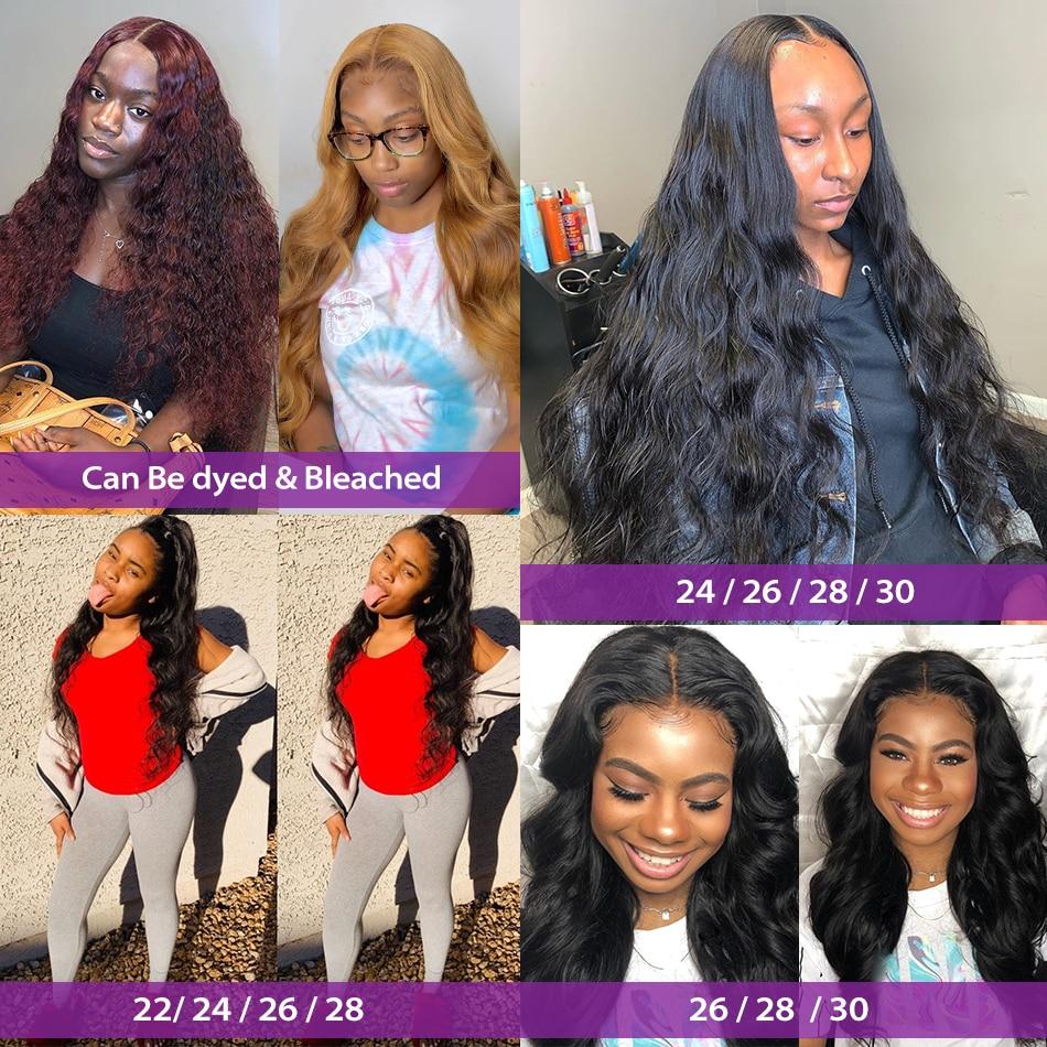 Luvin 28 30 32 34 40 Inch 1 3 4 Braziliaanse Hair Weave Bundels Body Wave Remy Menselijk Haar Natuurlijke double Drawn 6