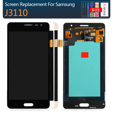 Replacement LCDs For Samsung Galaxy J3 pro J3109 J3110 J3P J3119 AMOLED LCD Display Touch Screen Digitizer Brightness Adjustnebt(China)