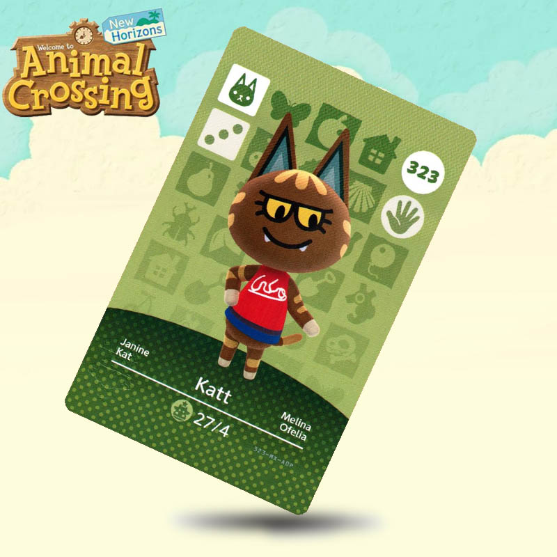323 Katt Animal Crossing Card Amiibo Cards Work For Switch NS 3DS Games