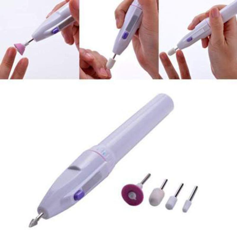 1Set Electric Nail Drill Machine Kit USB Charging Manicure Machine Pedicure 6 Bits Sanding Buffer Nail File Nail Art Pen TSLM1 4