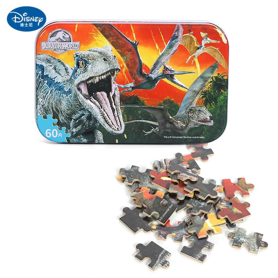 Disney 60 Piece Princess Frozen Wooden Box Puzzle Early Education Children Bottom Box Puzzle Birthday Toys Intelligence Puzzle 24