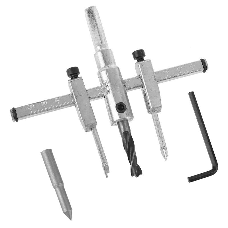 Adjustable metal wood circle hole saw drill bit cutter kit diy tool new~