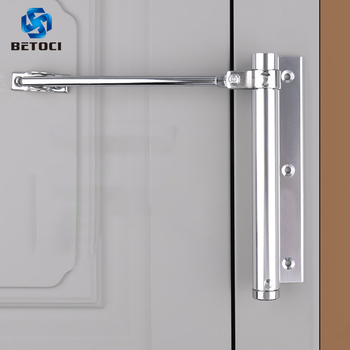 BETOCI Adjustable door automatic closer aluminum alloy automatic door spring silver tone intensity, suitable for fire door 40 kg