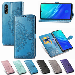 На Алиэкспресс купить чехол для смартфона luxury wallet style soft tpu back cover for vivo y7s s1 iqoo neo y17 y3 v15 pro x27 y97 v9 embossed mandala leather flip case