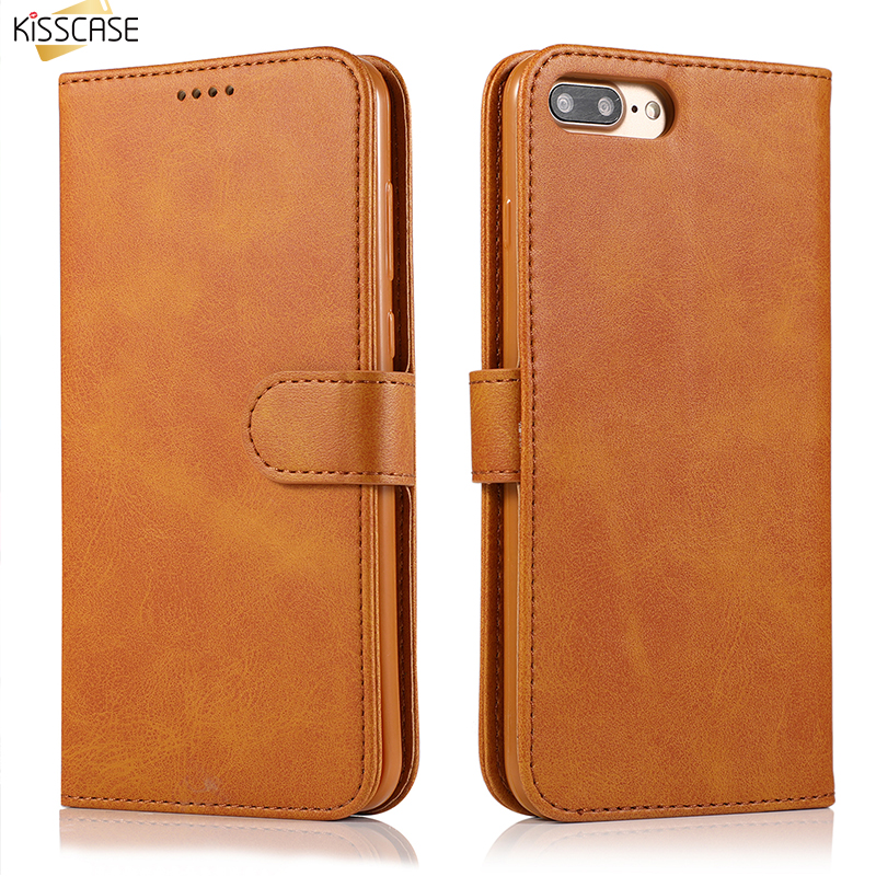 KISSCASE Flip Phone Case Pour Samsung Galaxy S6 S7 Edge Case Leather Stand Wallet Card Slot Pouch For Galaxy S8 S9 Plus Note 8 9