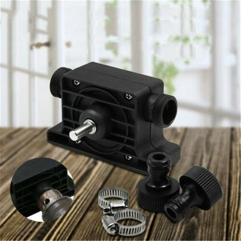15mm Electric Drill Pump Self Priming Transfer Pumps Oil Fluid Water Pump Round shank