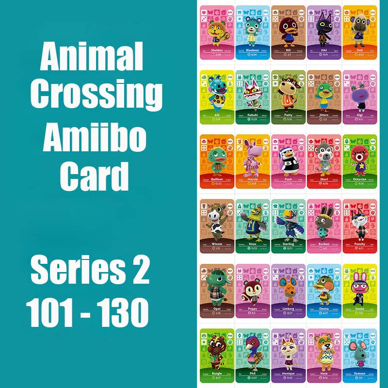 Series 2 #101-130 Animal Crossing Cards Amiibo Card Work For Switch NS 3DS Games Animal Cards Amiibo Card Series 2