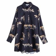 Neue 2020 frauen vintage animal print casual lose kimono bluse shirts frauen wilden chic chemise blusas marke femininas tops LS6080
