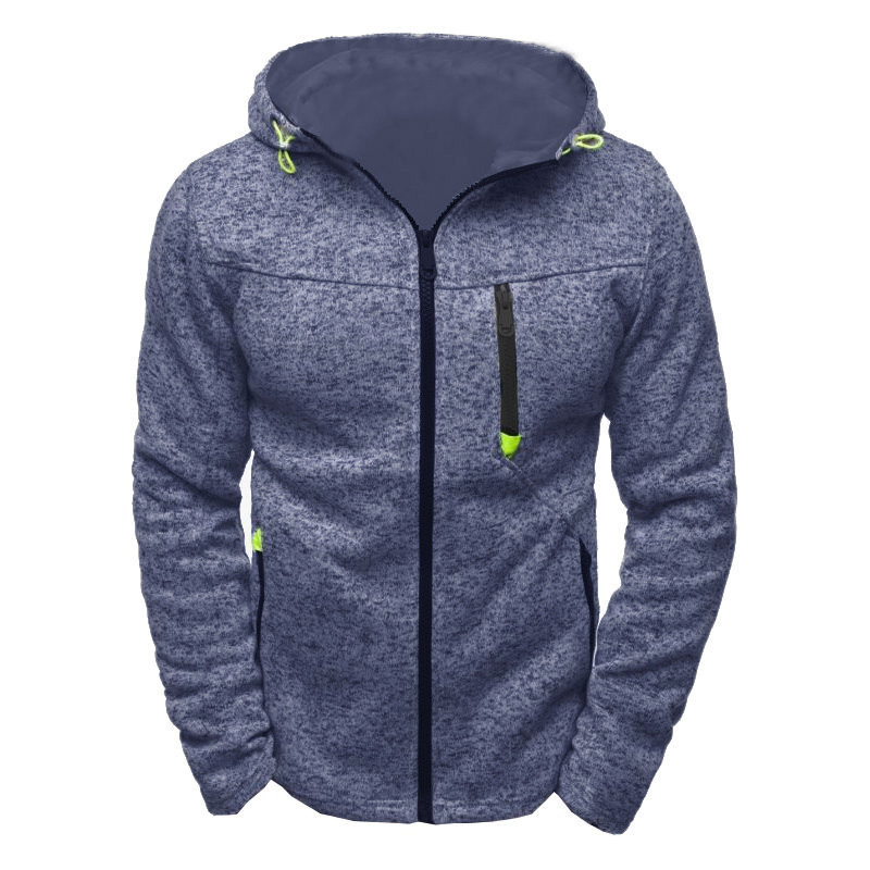 Men Sports Casual Wear Zipper Fashion Tide Jacquard Hoodies Jacket Fall Sweatshirts Autumn Winter Coat