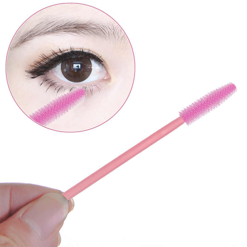 500 sztuk silikonowe szczotka do przedłużania rzęs jednorazowe pędzel do brwi tusz do rzęs aplikator oczu rzęsy pędzle kosmetyczne makijaż narzędzie