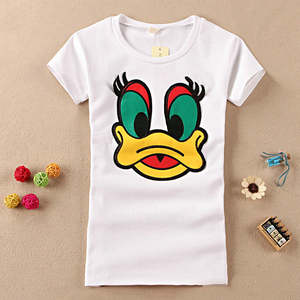 Han edition cartoon grinding qiu dong MAO more cotton short sleeve T-shirt