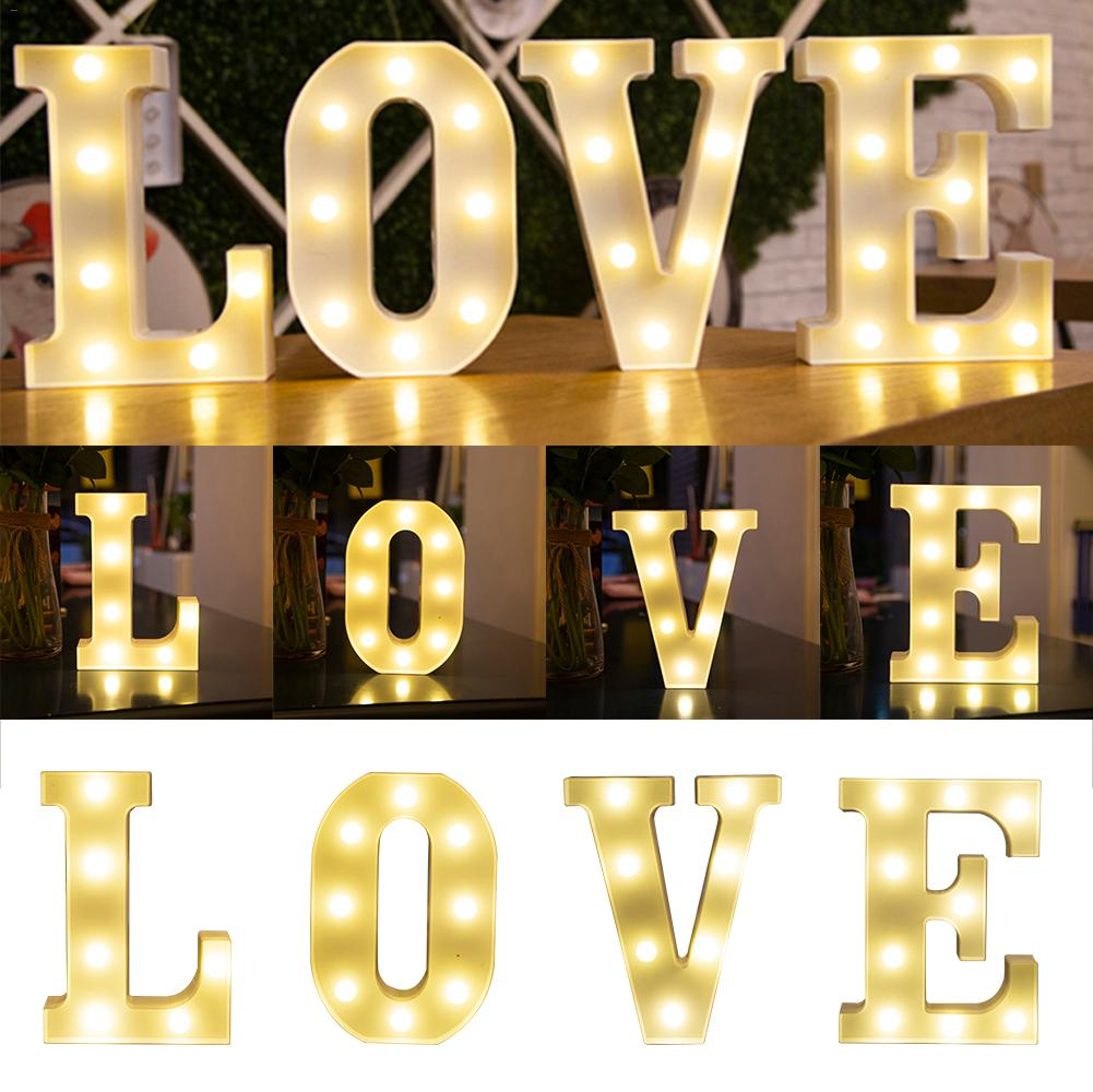 Holiday Lamps LED English Letter Number Lamps Lights Wedding Digital Night Light Birthday Proposal Christmas Decorative Lamps