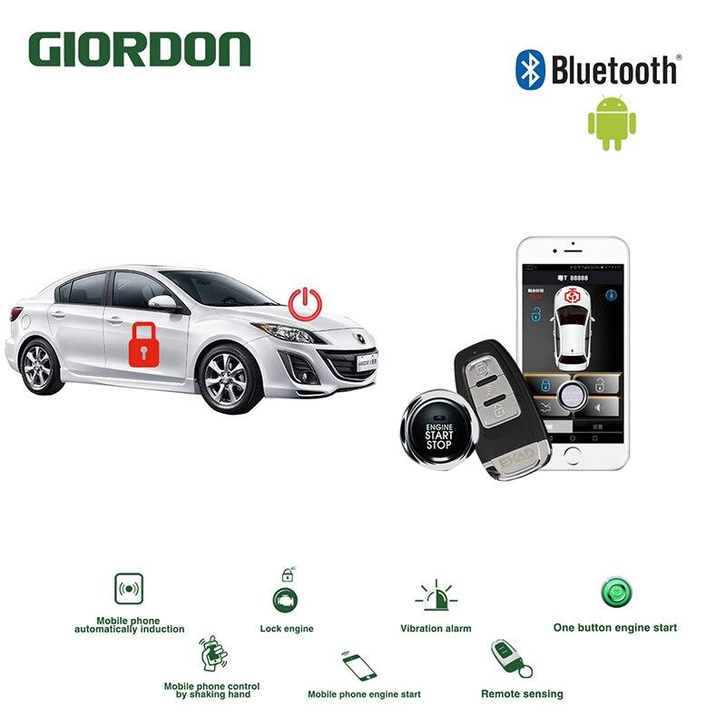 Système de confort universel sans clé PKE système d'alarme de voiture APP Android démarrage à distance moteur de voiture Mazda