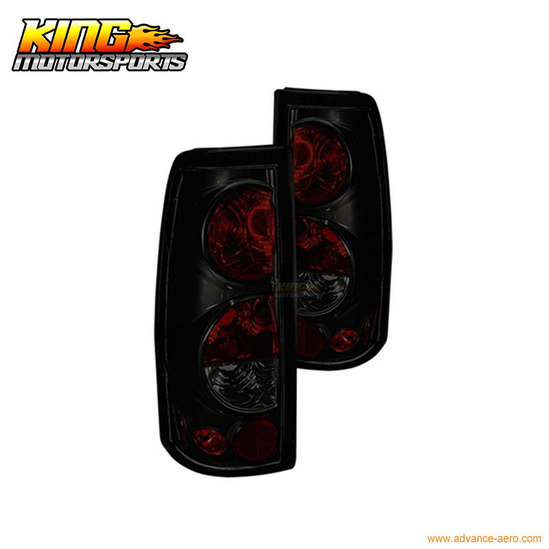 Fit For 1999-2006 Chevrolet Silverado 99-03 GMC Sierra Altezza Tail Lights Black SmokeUSA Domestic Free Shipping