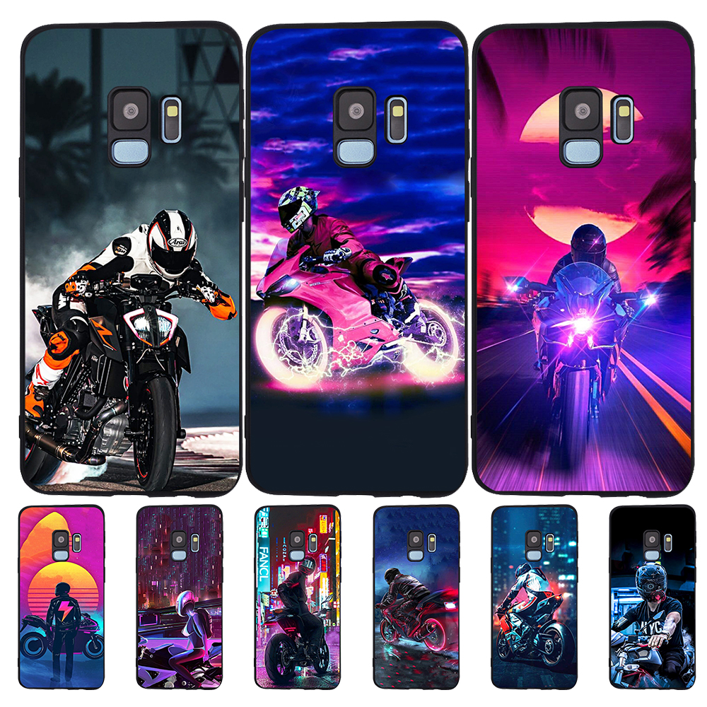 For <font><b>Samsung</b></font> <font><b>Galaxy</b></font> S6 S7 Edge S8 S9 S10 Plus Lite Note 8 9 10 A30 A40 A50 A60 <font><b>A70</b></font> M10 M20 <font><b>phone</b></font> <font><b>Case</b></font> Cover Motorcycle boy cool image