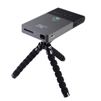 Pocket Projector C2 Dlp Projector Full Hd Portable Wifi Project Android OS 1G/8G LED Home Cinema Bluetooth4.0 Projector Mini Pc
