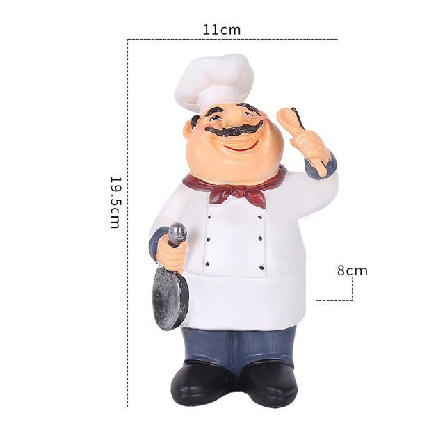 статуэтка шеф повара кухонная скульптура для настольной фигурки фотография