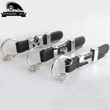 leather Key Rings For Mercedes Benz GL GLC ML SL SLK GLA GLE A B C E S R 3D Car Keychain Metal Keyring Key Chain Rings Keychains