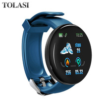 Get more info on the 2019 New Arrival D18 Waterproof Bluetooth Bracelet Smart Watch Heart Rate Blood Pressure Activity Trackers Sports Smartwatch