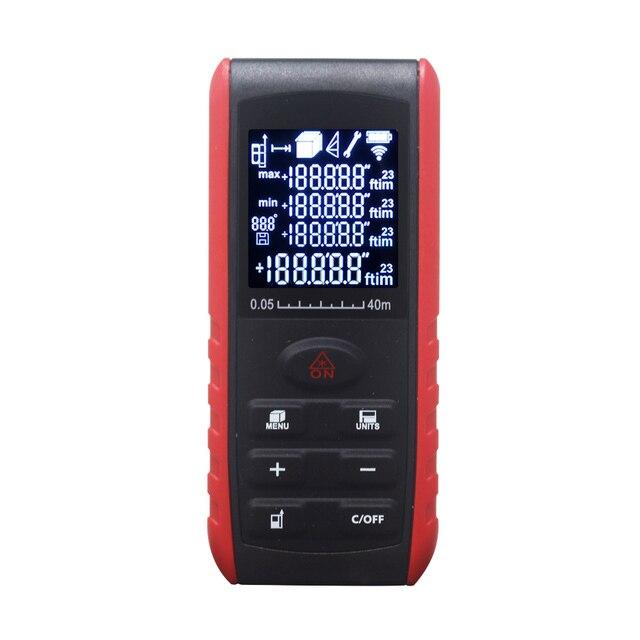 Télémètre Laser portable télémètre Laser numérique testeur de Volume de zone indicateur dangle 40m 60m 80m 100m