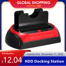 Hdd Docking Station Dual Harde Schijf Docking Station Base Voor 2.5 Inch 3.5 Inch Ide/Sata Usb 2.0HDD-behuizing