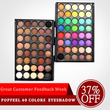 купить Eye Makeup Nudes Palette 40 Color Matte Eyeshadow Pallete glitter powder Eye Shadow Earth shadows brush set stamp pigment в интернет-магазине