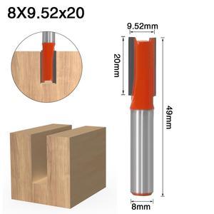 Image 3 - 1 قطعة 8 مللي متر عرقوب 2 الناي مستقيم بت أدوات النجارة راوتر بت للخشب التنغستن كربيد endmill قاطعة المطحنة