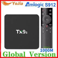 ТВ-приставка Amlogic S912 с восьмиядерным процессором Android TX9S 2,4G Wifi медиаплеер 2G/8G ТВ-приставка Netflix Youtube Google 1G8G