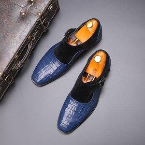 Image 5 - 2020 בעבודת יד עור אבזמי גברים של שמלת נעלי עסקי נעלי אוקספורד פורמליות חתונה משרד גבר נעלי הנעלה לנשימה