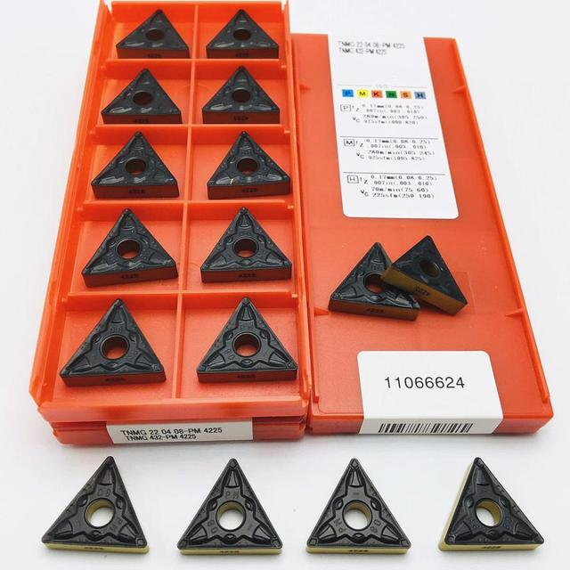 10 pieces of TNMG220408 PM 4225 carbide blade CNC turning tool machine tool accessories turning blade cutting tool tnmg 220408