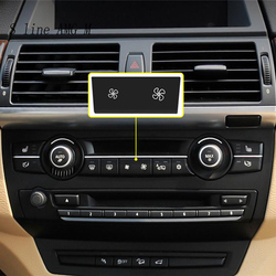 Car Styling Wind Air Volume air conditioning Fan button switch Cover Stickers For BMW 1 3 Series X1 X3 X5 X6 E87 E84 E90 e70 E71