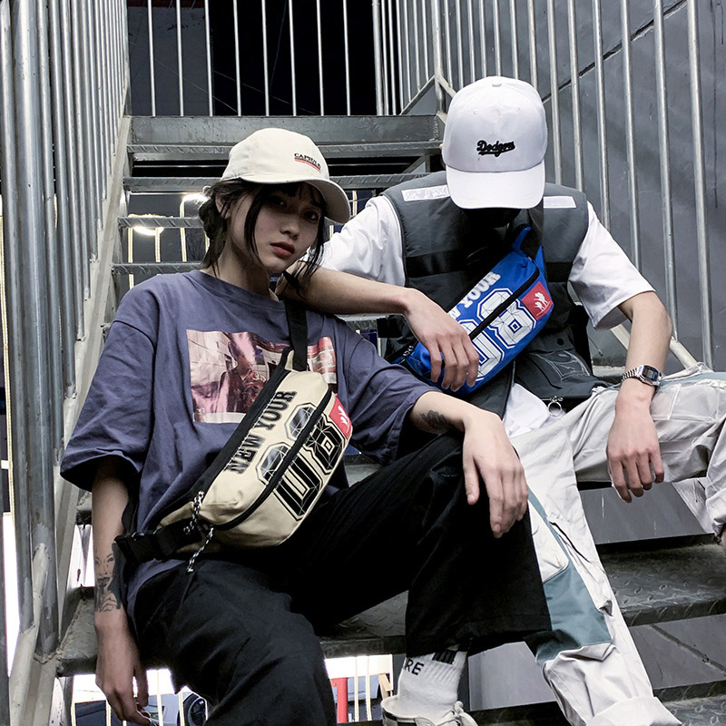 New Men Waist Bag Women Fanny Pack Street Hip Bag Unisex Banana Bags Letter Kidney Bag Chest Bag For Men Shoulder Bag Hip Hop