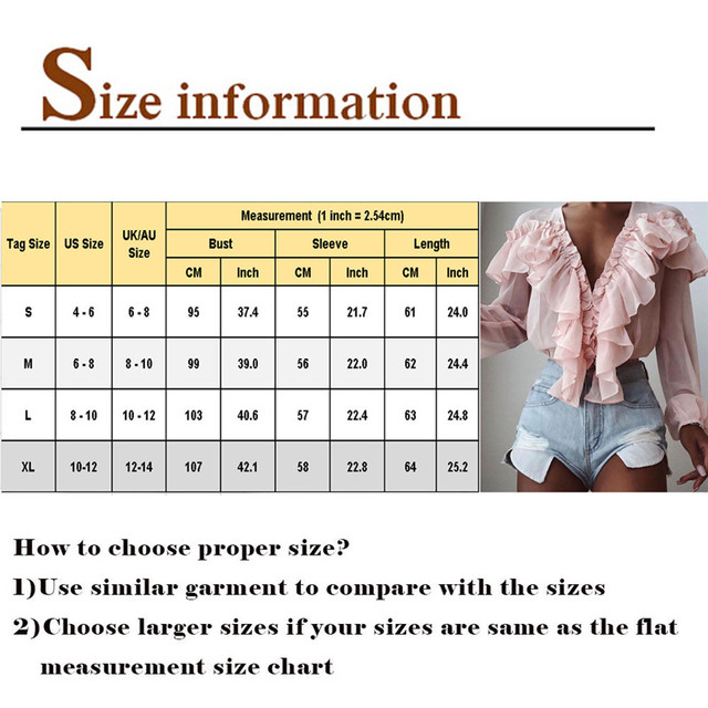 Pink Stylish Tops Autumn Ruffles Blouse Women Sexy V neck Long Sleeve Shirts Female Casual Buttons Street Blusas Plus Size XL 4