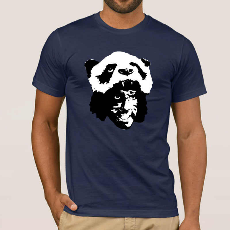 Graphic Tropic Panda Men's T-Shirt Cotton Crew Neck Streetwear Tshirt Male Female Size S-3xl Pop Top Tee