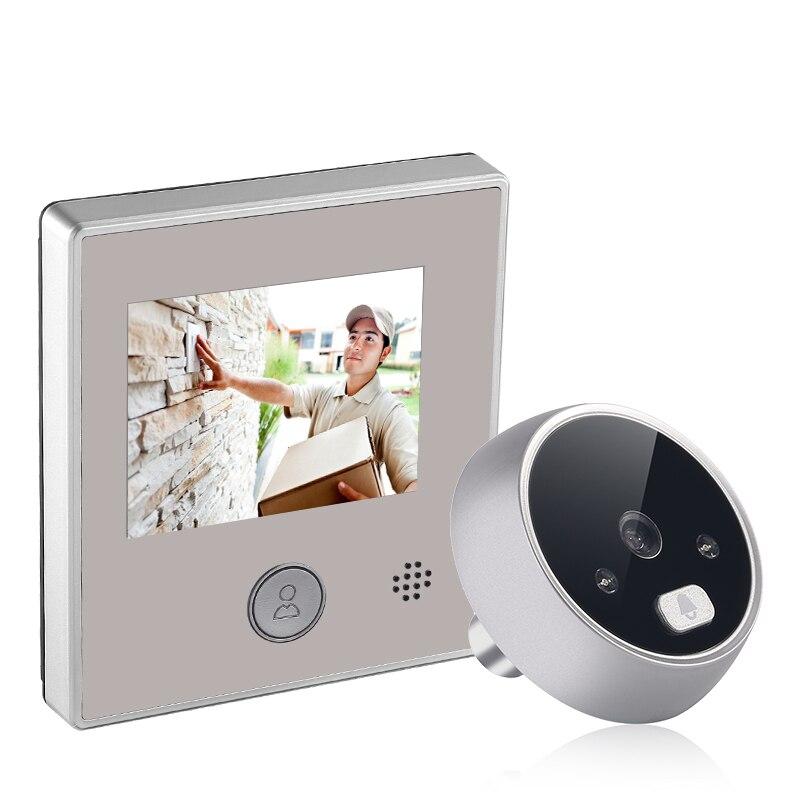 Новый 2,8 дюймовый экран фото/видео запись дверная камера 120 градусов ИК ночной дверной Звонок электронный дверной видео звонок зритель