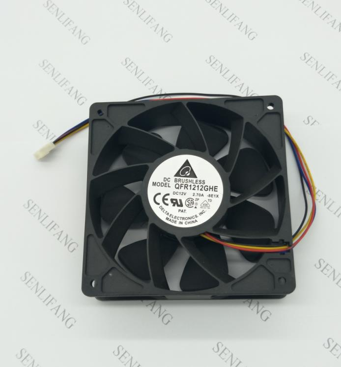 74Y5220 Working For Delta QFR1212GHE QFR1212GHE-PWM 4P 12V 2.7A 12038 Server Cooling Fan  120*120*38mm For Bitcoin Miner