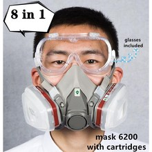 Respirator Spray Protective-Glasses Gas-Mask Paint Cartridge Decoration-Protection Rubber-Fabric