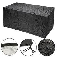 직사각형 정원 안뜰 비 먼지 커버 야외 방수 소파 테이블 의자 벤치 가구 커버 jan88