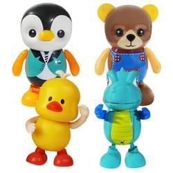Tanzen Pinguin Kleine Gelbe Ente Roboter Spielzeug Bär Dinosaurier Licht Musik Schaukel Kinder Elektrische Puppe Puppe Educational Kinder Spielzeug