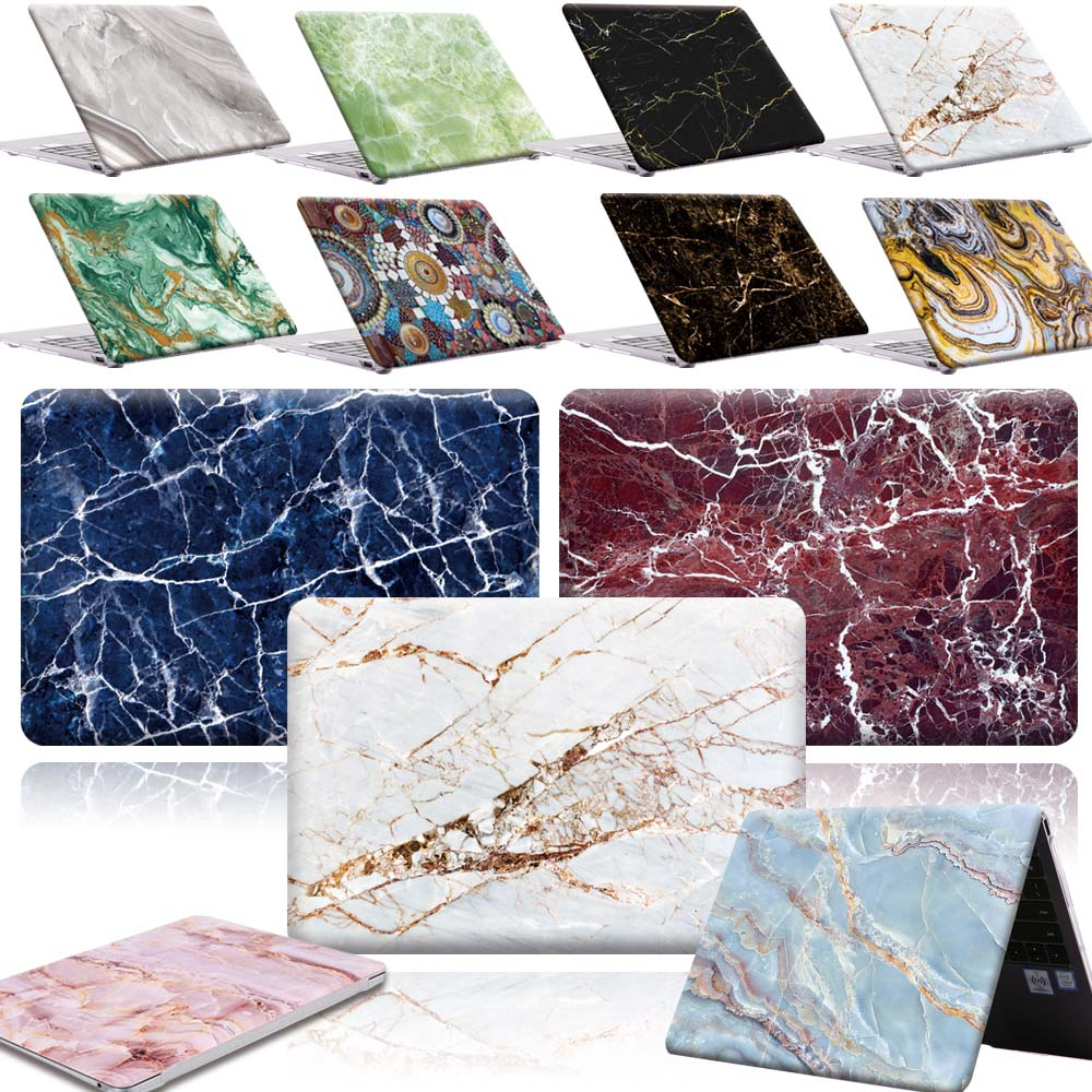 KK&LL For HUAWEI MateBook X Pro 2019 13.9 / MateBook 13 14 Inch  - New Print Marble Art PC Shell Laptop Anti-Scratch Case Cover
