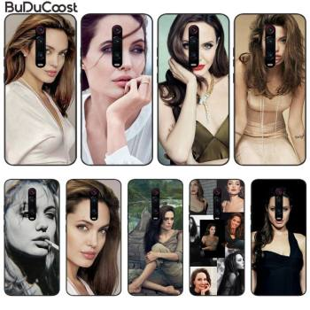 Angelina Jolie Phone Case For Redmi Note 8 9 7 7A 6 6A 5 5A 4X Go K20 Pro Plus Prime image