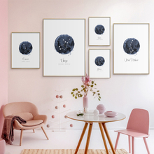 Constellation Nursery Wall Art Canvas Poster Prints Astrology Sign Minimalist Watercolor Painting Nordic Kids Decoration Picture