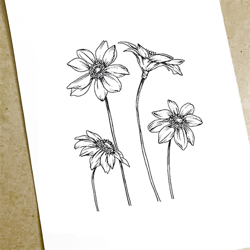 Clear Stamps 4Pcs Flowers Transparent Rubber Silicone Scrapbooking for Card Making Photo Album Craft Decor New Stamp 2019