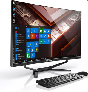 AIO WIFI Desktop Computer PC With CPU I7 RAM 16GB SSD 256GB And 27'' Inch FHD Lcd Monitor