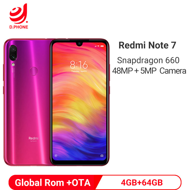 Official Global Rom Xiaomi Redmi Note 7 4GB 64GB Snapdragon 660 AIE Octa Core 6.3