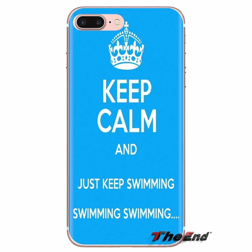 Zachowaj spokój i cieszyć się pływać do Samsung Galaxy S2 S3 S4 S5 MINI S6 S7 krawędzi S8 S9 Plus uwaga 2 3 4 5 8 Coque Fundas skrzynki pokrywa