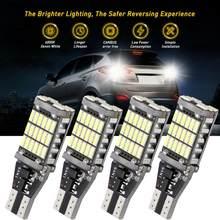 T15 farol automotivo super brilhante, 4 unidades, t15 w16w 921 45 smd led 4014, auto luz reversa, iluminação lâmpada de volta para cima