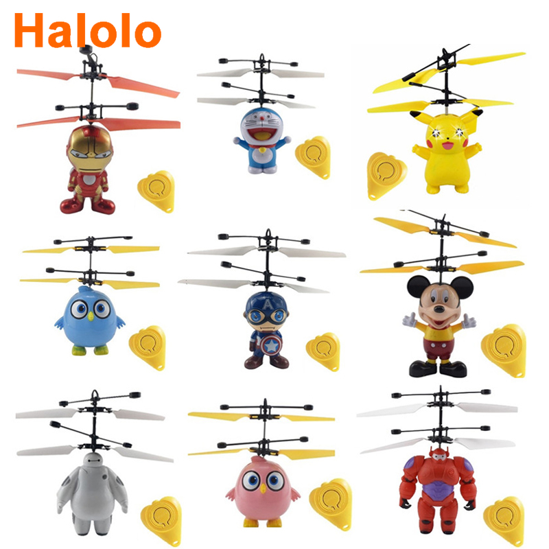 Halolo Mini Drone flying induction Quadcopter RC Drone Mini Infrared Sensor Helicopter Aircraft RC Toy Drone best gift toy 1