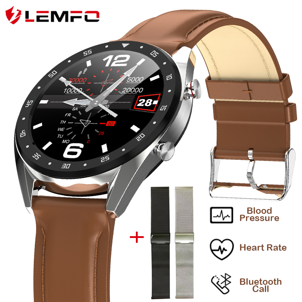 LEMFO L7 PPG + ECG Smart Watch Men Full Round Touch IP68 Waterproof Bluetooth Call Heart Rate Smart Bracelet Android IOS|Smart Watches| |  - AliExpress